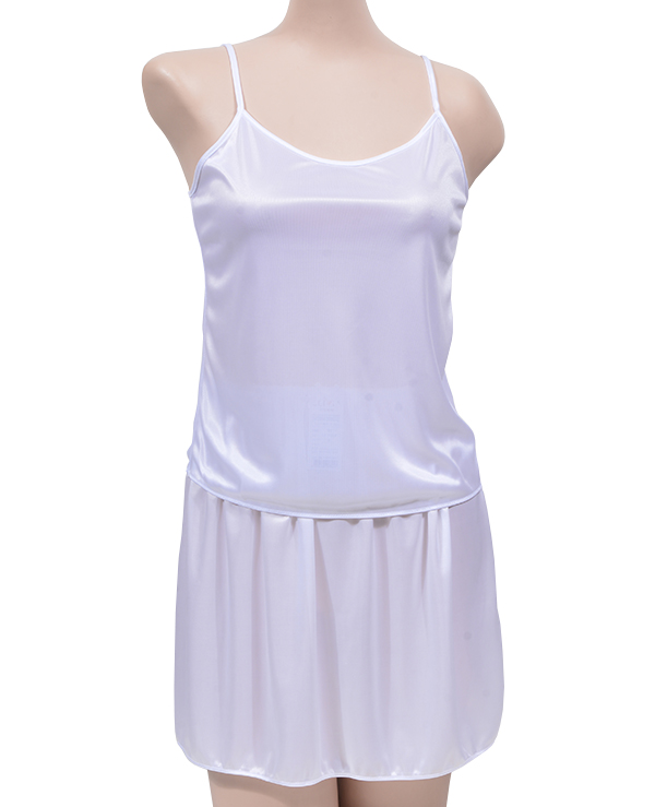 (크리비아)(5302상+5705하)부드럽고 가벼운 착용감 기본형 여성용 슬립 상하 치마세트